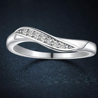 7 Stone Silver Cubic Zirconia Ring - Boring Online Store
