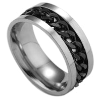 Fashion Spinner Geometric Ring for Men - Boring Online Store