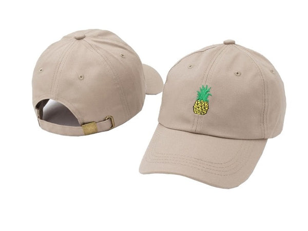 Embroidery Baseball Hat - Pineapple - Boring Online Store