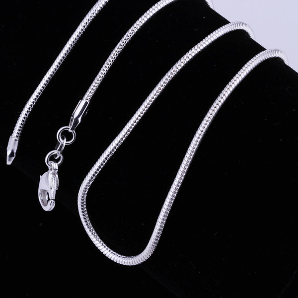 Silver plated Snake Chain Necklace - Boring Online Store