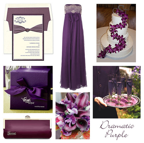 Rustic Wedding Color Ideas: Purple Rustic Wedding Ideas