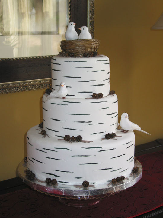 Birch Cake - Rustic Wedding Chic