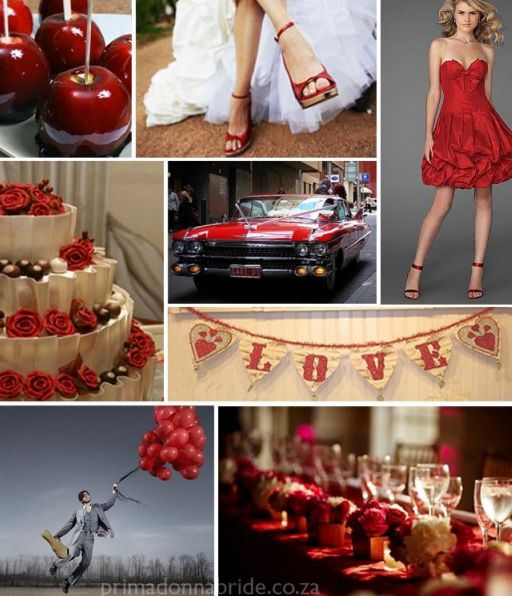 Wedding Red And White Theme: Rustic Wedding Chic