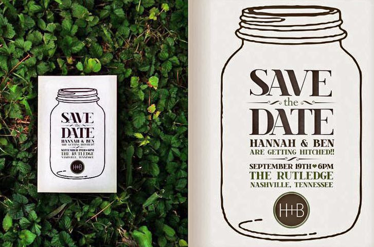 Save the date - Rustic Wedding Chic