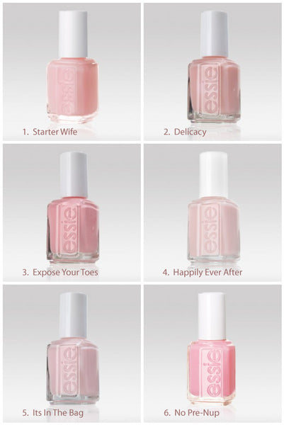 Essie Pale Pink Comparison Ballet Slippers Minimalistic: Nail It- Pink Shades