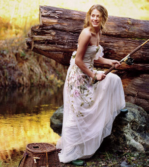 Rustic wedding gowns for a rustic or country wedding for Nature themed wedding dress