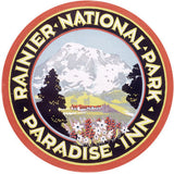 Rainier National Park Sign