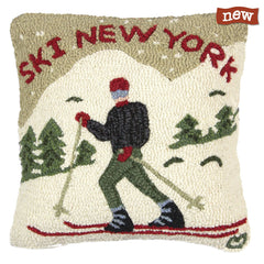 Ski New York Pillow