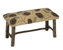 Northwoods Pine Cone Hickory Bench