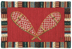Crossed Snowshoes Rug