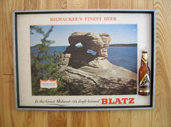 Blatz Beer Framed Sign