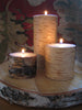 Birch Pillar Candles