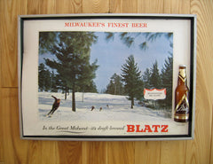 Blatz Beer Framed Sign--Snow