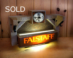 Falstaff Beer Sign and Clock