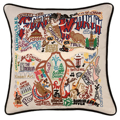 Forth Worth City Pillow