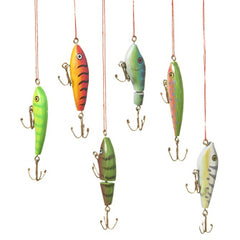 Fish Lure Ornament Set
