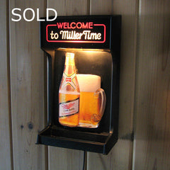 Miller Time Beer Sign