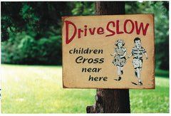 Children Cross Near Here Sign