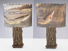 Pike & Net Lamp Shade