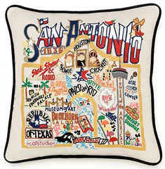 San Antonio City Pillow