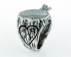 Carved Faux Bois Ring