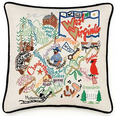 West Virginia State Pillow