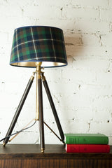 Tripod Lamp with Tartan Shade