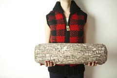 Velvet Log Bolster Pillow