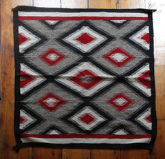 Vintage Red Diamond Navajo Rug