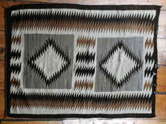 Vintage Double Diamond Navajo Rug