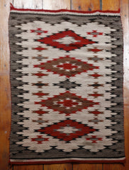 Vintage Navajo Four Diamond Rug