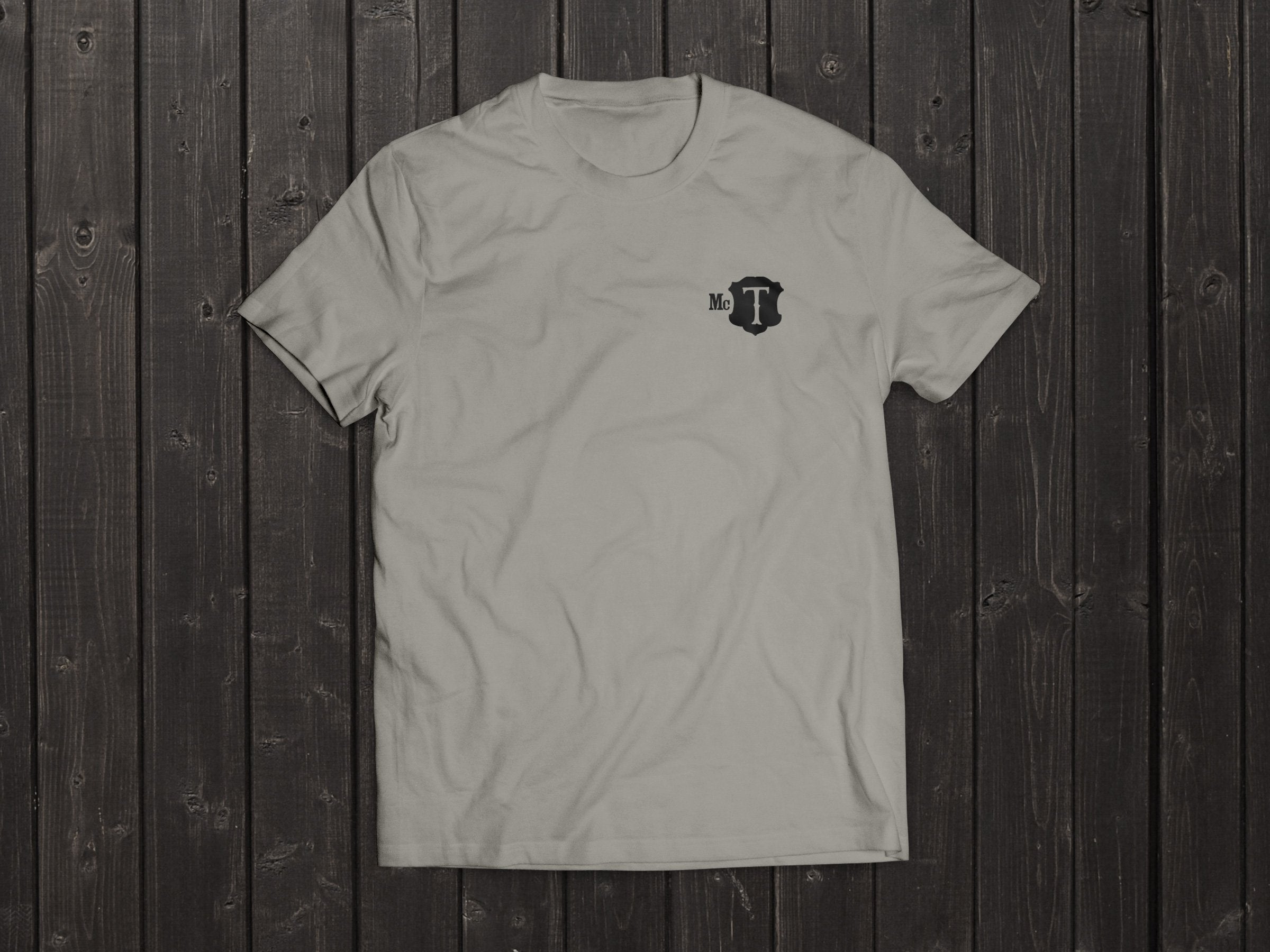 The McT Tony Singh T Shirt in Light Grey