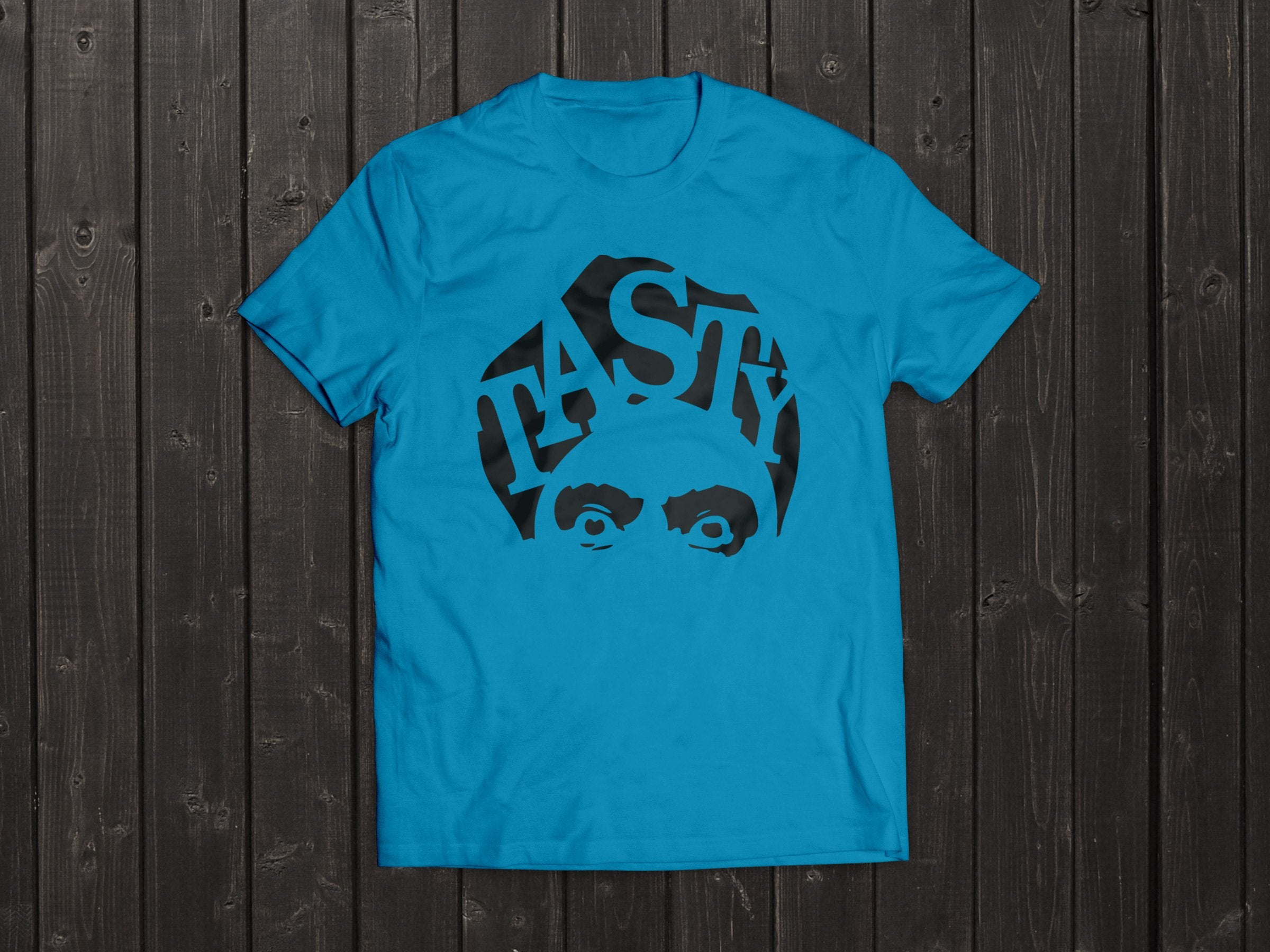 The  Tony Singh Tasty Turban T Shirt in Light Blue