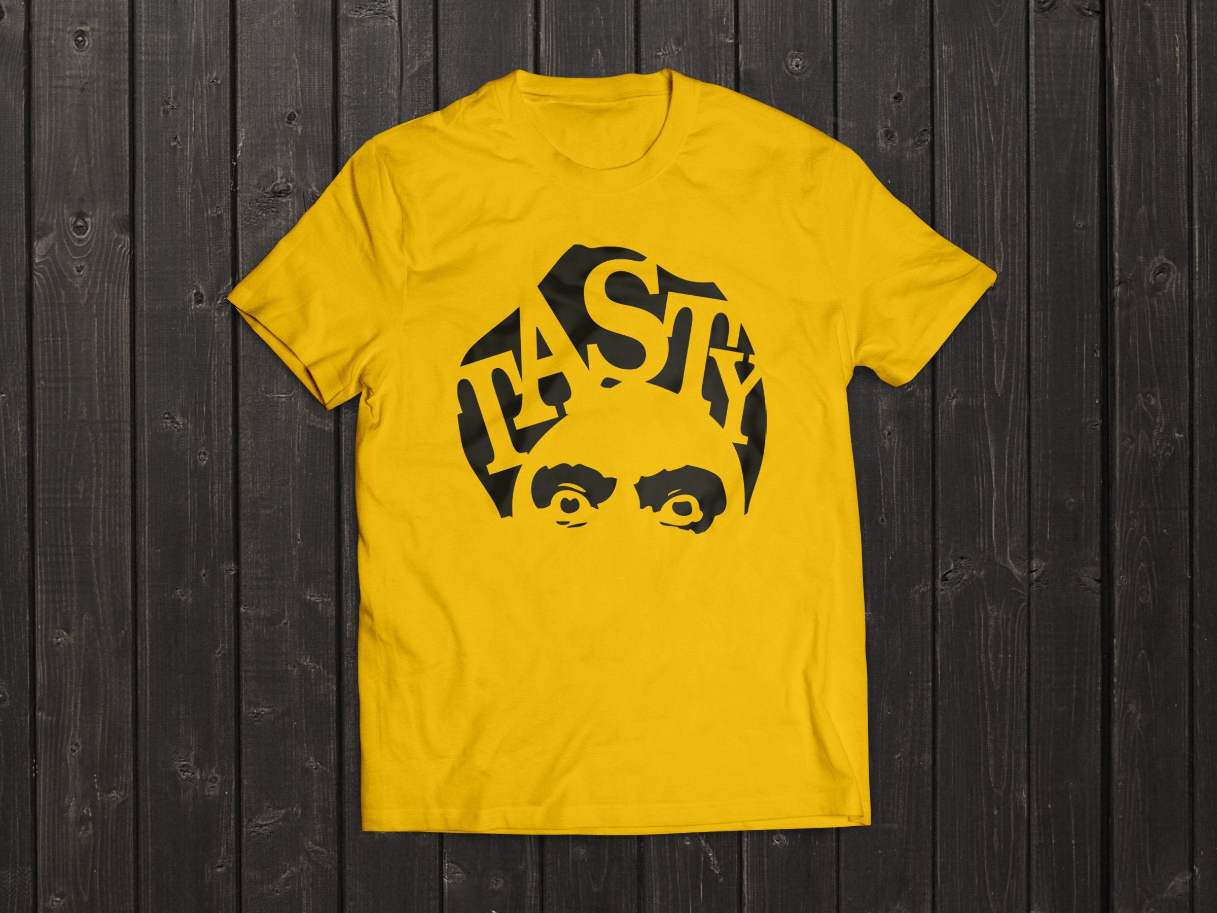 The  Tony Singh Tasty Turban T Shirt in Yellow