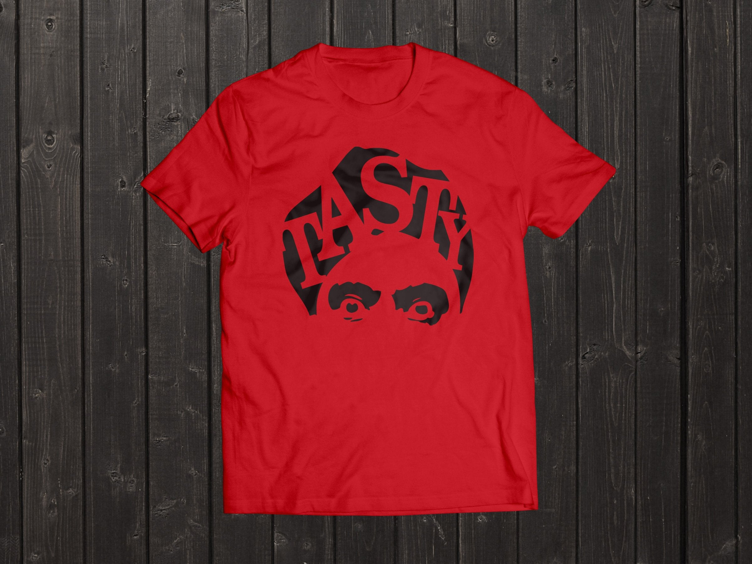 The  Tony Singh Tasty Turban T Shirt in Red