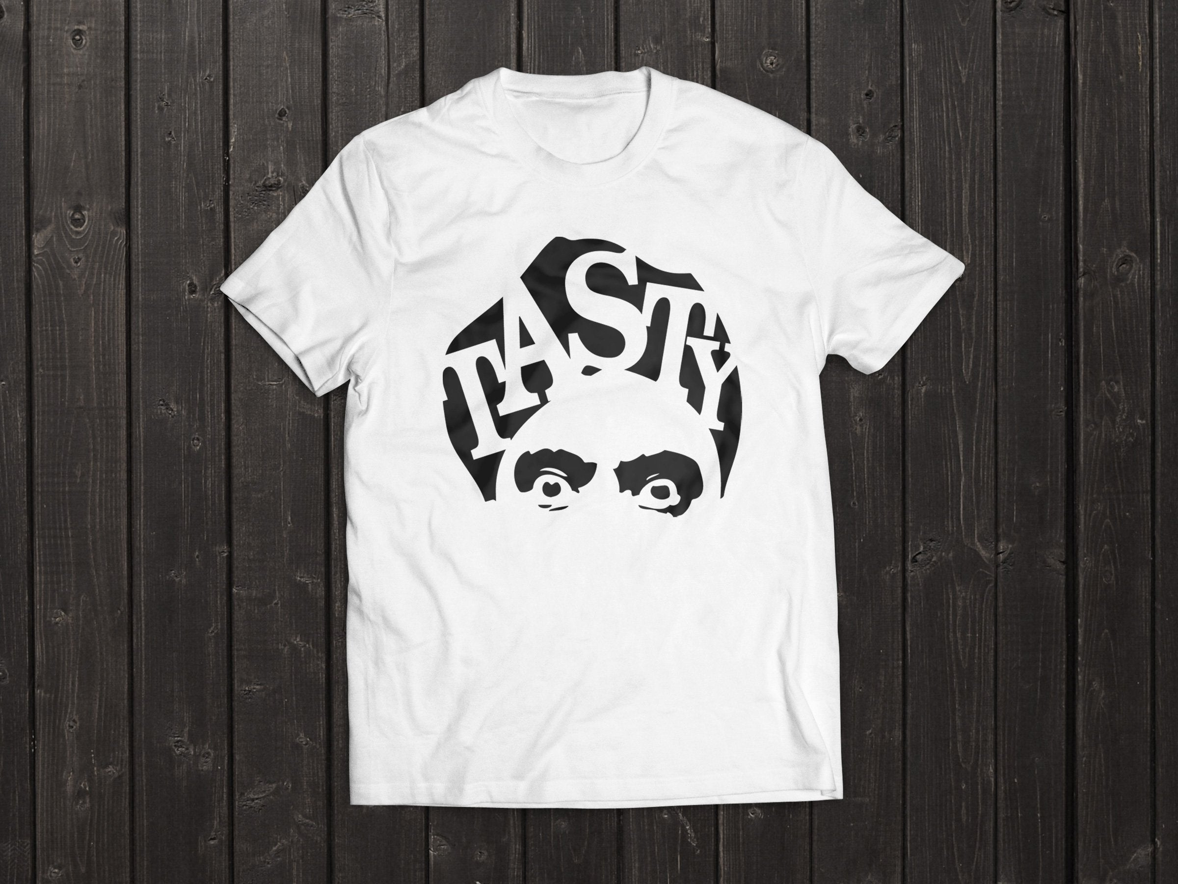 The  Tony Singh Tasty Turban T Shirt in White