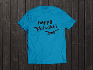 The Tony Singh Happy Vaisakhi T Shirt in Light Blue
