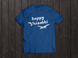 The Tony Singh Happy Vaisakhi T Shirt in Dark Blue