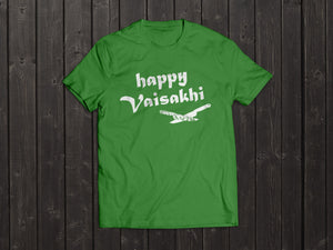 The Tony Singh Happy Vaisakhi T Shirt in Green