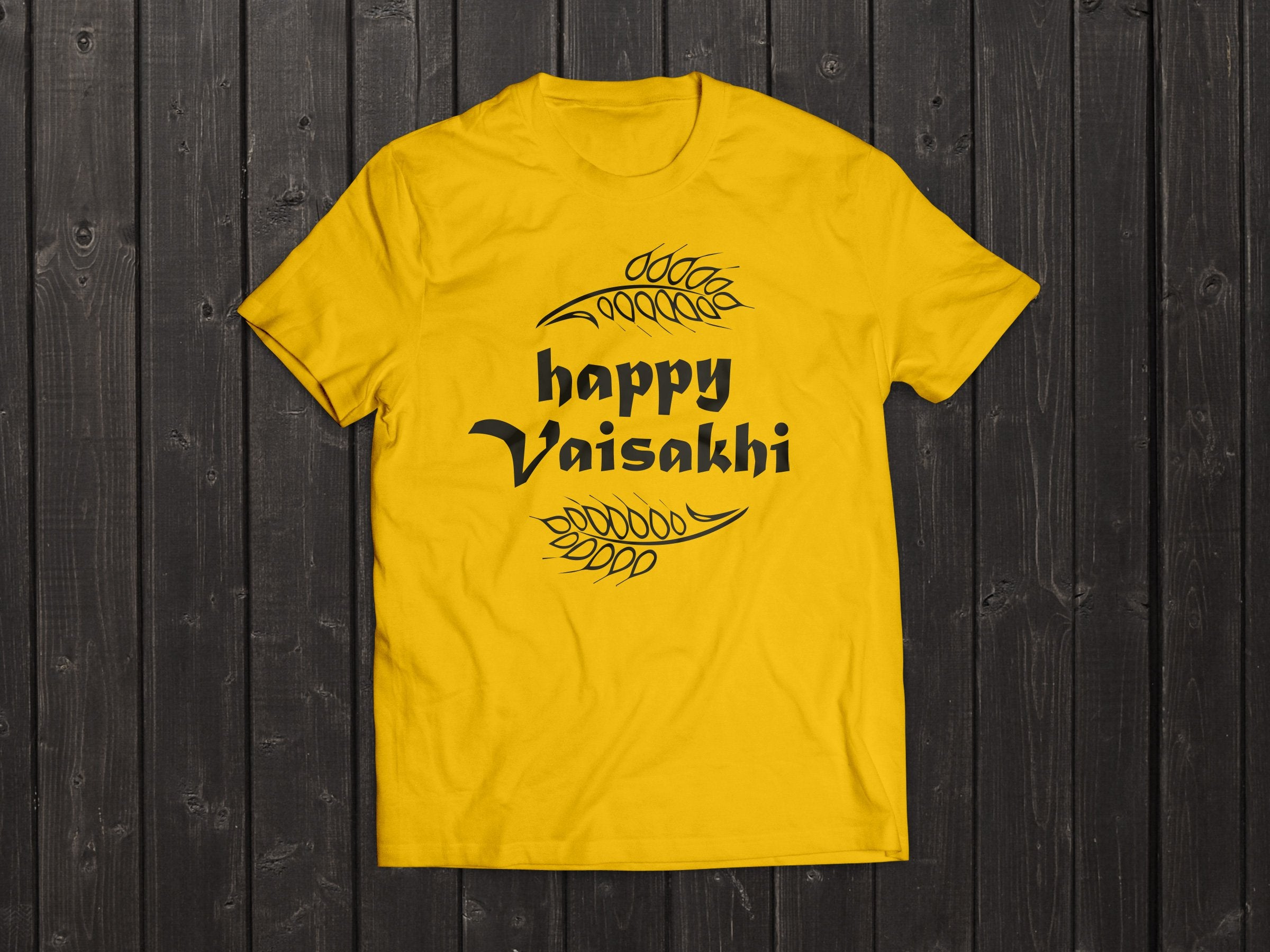 The  Tony Singh Happy Vaisakhi T Shirt in Yellow