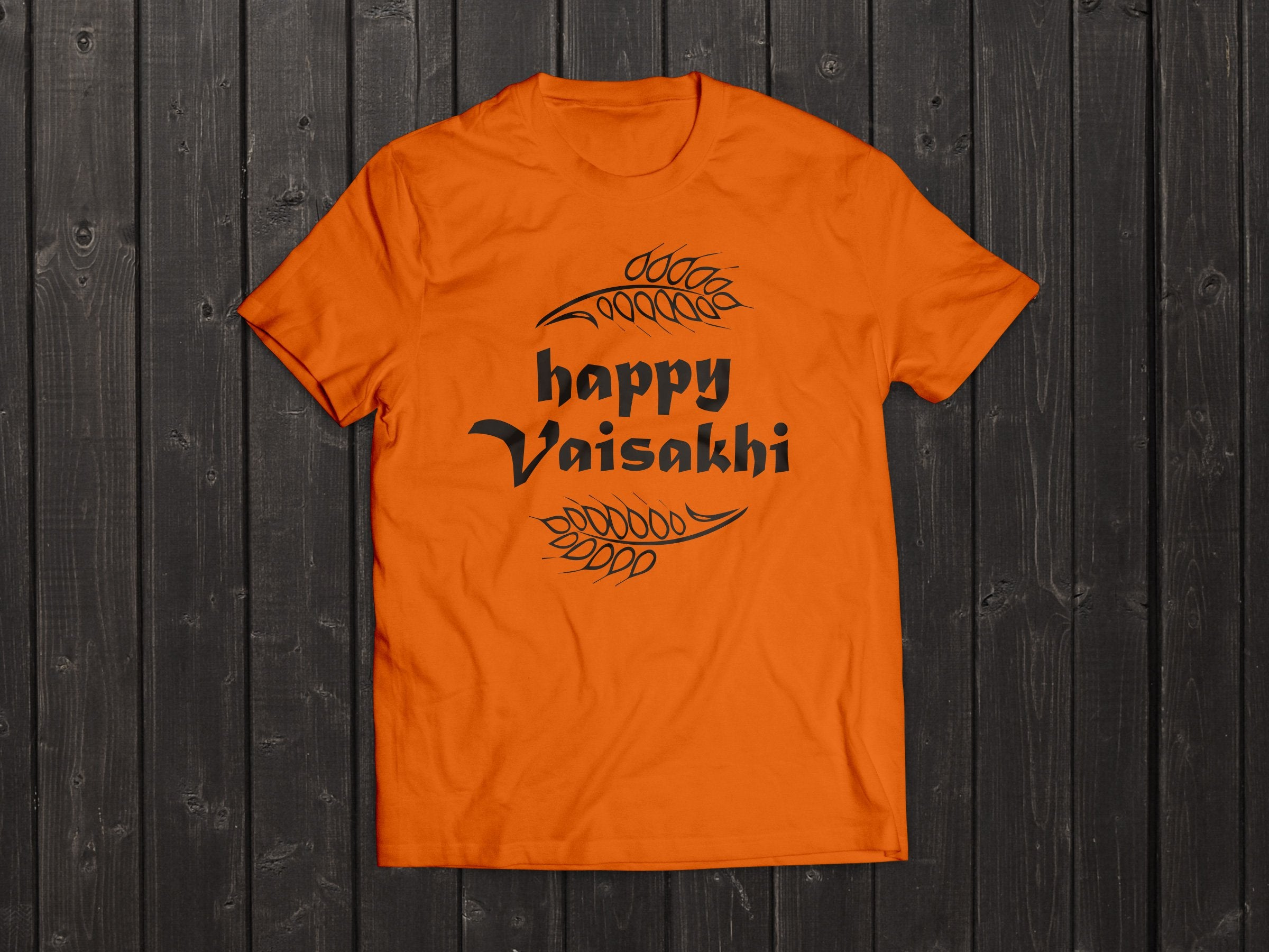 The  Tony Singh Happy Vaisakhi T Shirt in Orange