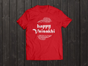 The  Tony Singh Happy Vaisakhi T Shirt in Red