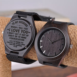 W1496 - You are the best thing - For Husband  Engraved Wooden Watch