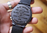 W1497 - Love you longer - For Husband  Engraved Wooden Watch