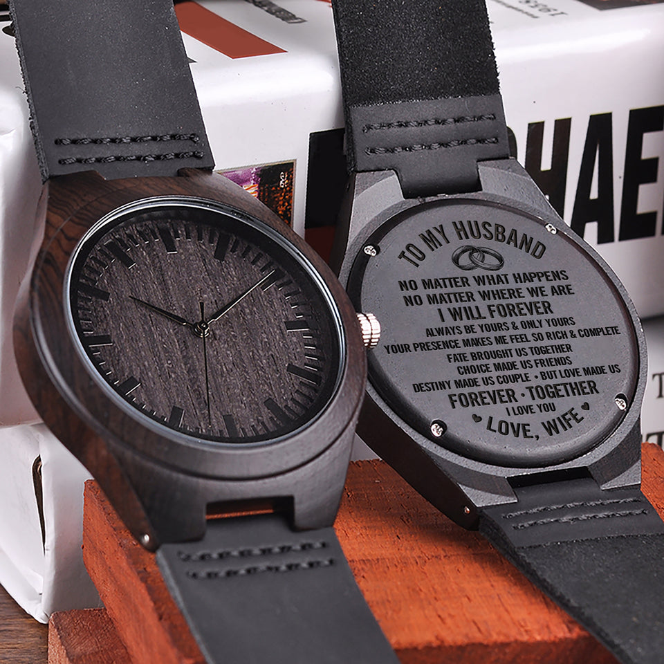 W1514 - Destiny made us couple - For Husband  Engraved Wooden Watch