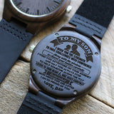 W1590 - Remember how much you are loved - From Dad To Son Engraved Wooden Watch