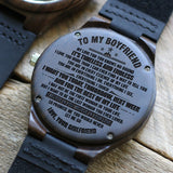 W1615 - You are in every essence of my life - For Boyfriend Engraved Wooden Watch