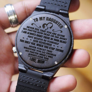 D1633 - In your heart - From Mom To Daughter Engraved Wooden Watch