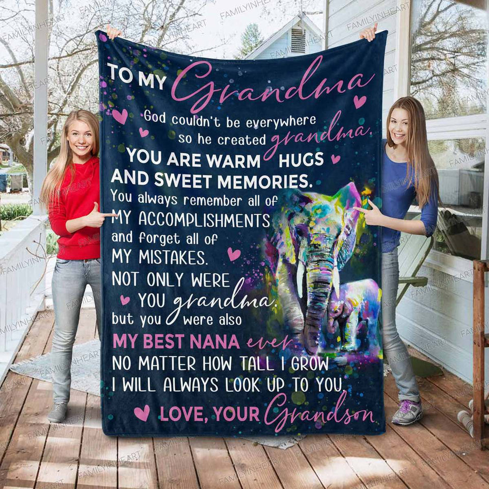 RN0967 - My Best Nana Ever - Blanket