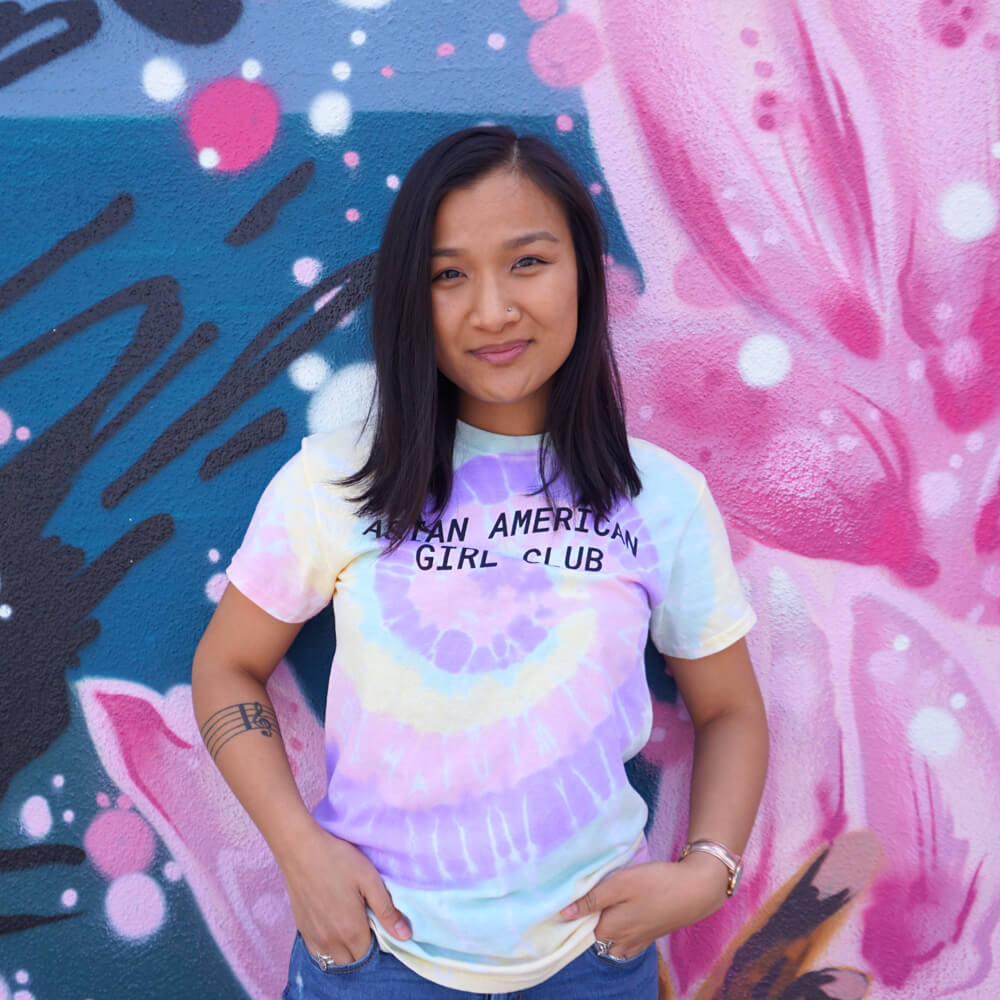 Asian American Girl Club (Unisex Tie Dye Tee)